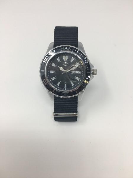 Armband Uhr 40mm Herren 3-Zeiger schwarz