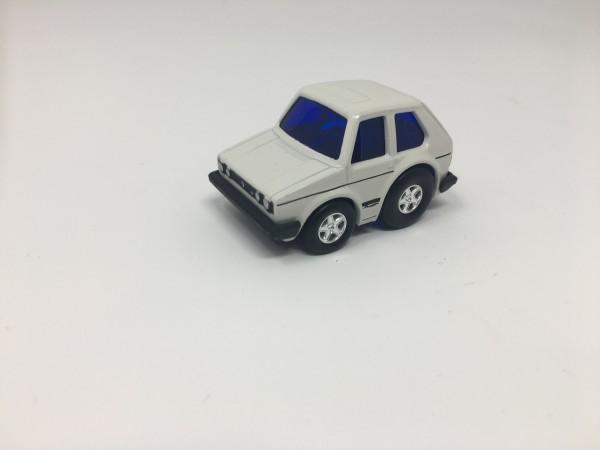 Pullback Spielzeugauto Golf GTI weiß