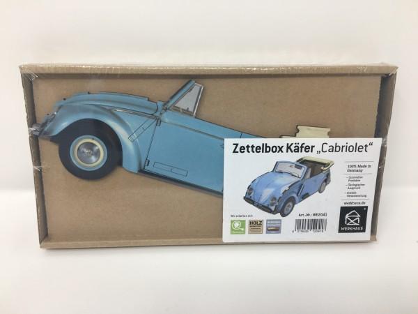 Zettelbox VW Käfer blau