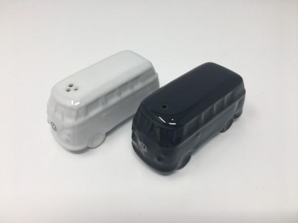 T1 Salz und Pfefferstreuer klein schwarz/weiß