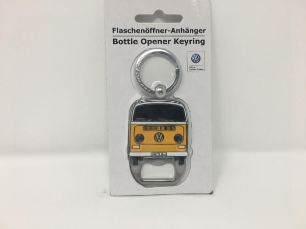 VW T2 Schlüsselanhänger mit Flaschenöffner Gelb