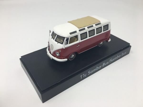 """Modellauto 1:43 T1c """"Samba Bus"""" Rot/Cream"""
