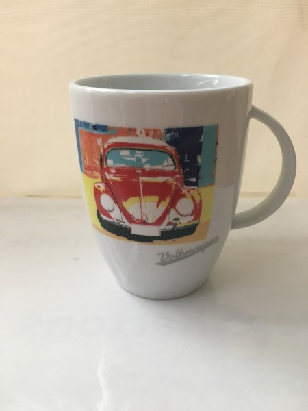 Porzellantasse VW Käfer Rot/Weiß