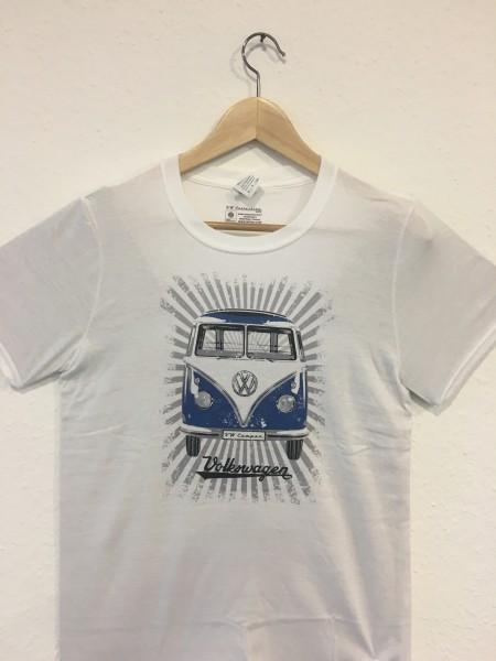 VW T1 Bus T-Shirt Unisex Blau/Weiß Gr.XL